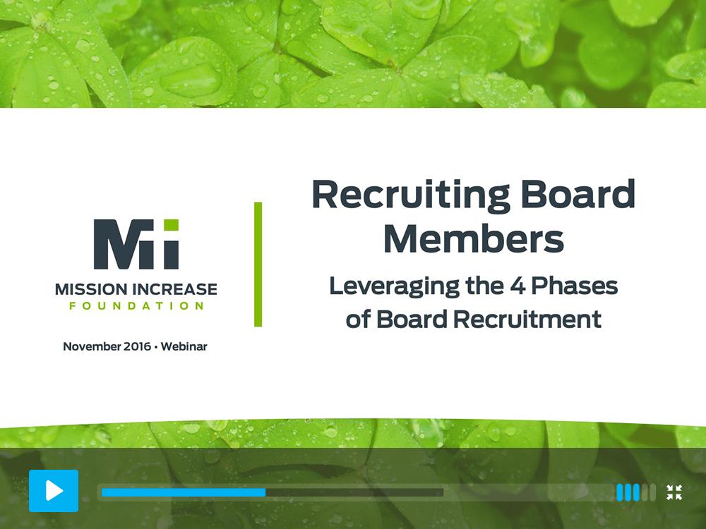 Recruiting board members, non-profit, organization, Christian organization
